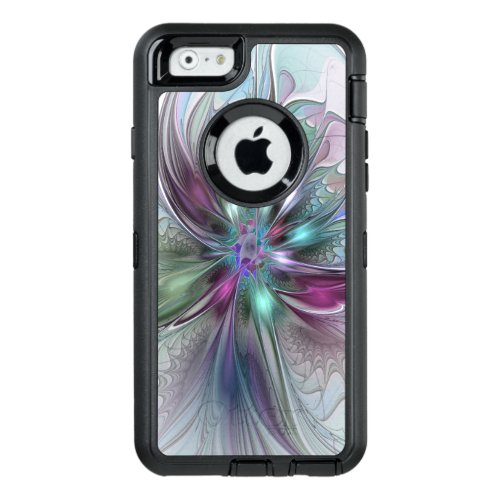 Colorful Fantasy Abstract Modern Fractal Flower Phone Case
