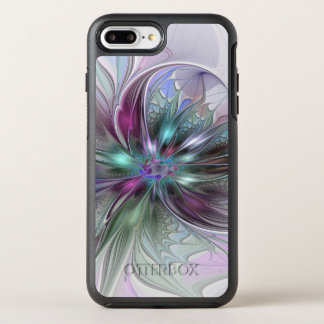 Colorful Fantasy Abstract Modern Fractal Flower OtterBox Symmetry iPhone 8 Plus/7 Plus Case