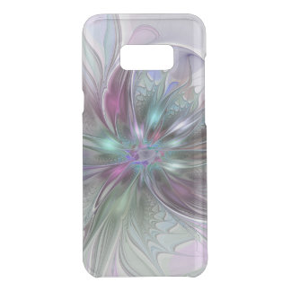 Colorful Fantasy Abstract Modern Fractal Flower Uncommon Samsung Galaxy S8  Case