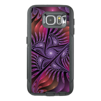 Colorful Fantasy Abstract Modern Purple Fractal OtterBox Samsung Galaxy S6 Case