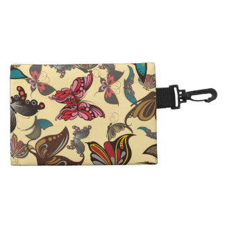 Colorful Fantasy Butterflies Accessory Bag