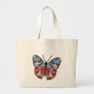 Colorful Fantasy  Butterfly-01 Large Tote Bag