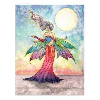 Colorful Fantasy Fairy Postcard