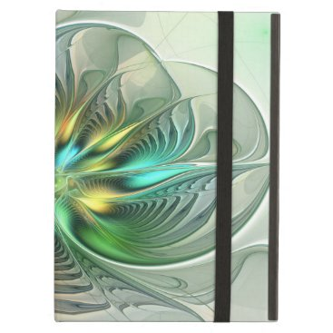 Colorful Fantasy Modern Abstract Flower Fractal Case For iPad Air