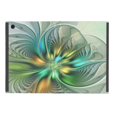 Colorful Fantasy Modern Abstract Flower Fractal Case For iPad Mini