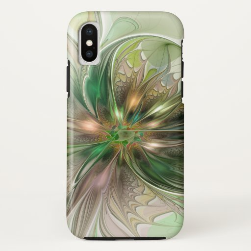 Colorful Fantasy Modern Abstract Fractal Flower iPhone X Case