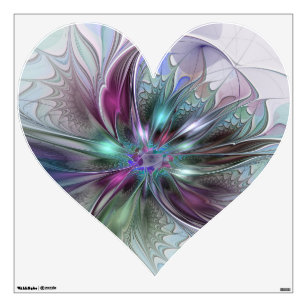 Heart Shaped Flower Wall Decals Stickers Zazzle