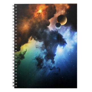 Colorful Fantasy Nebula Notebook