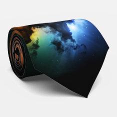 Colorful Fantasy Nebula Tie at Zazzle