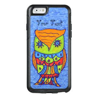 Colorful Fantasy Owl Orange Head Blue Star Eyes OtterBox iPhone 6/6s Case