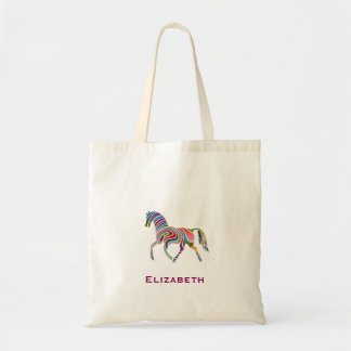 Colorful Fantasy Striped Painted Personalized Tote Bag