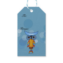 Colorful Fantasy Whimsical Owl Gift Tags