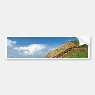 Colorful farm landscape bumper sticker