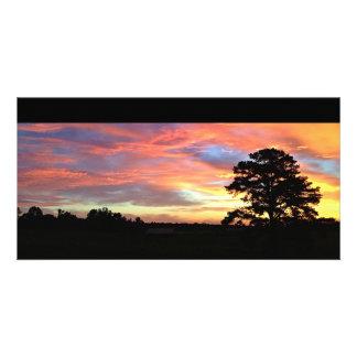 Colorful Farm Sunrise Card Photo Cards
