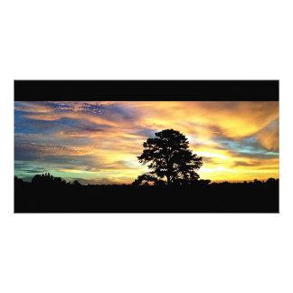 Colorful Farm Sunrise Card Personalized Photo Card