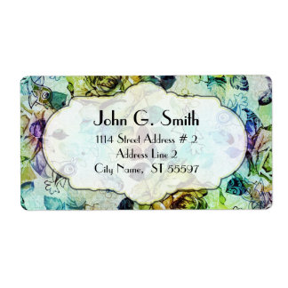 Colorful Fashion Rustic Rose Label