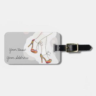 Colorful fashion shoes bag tag