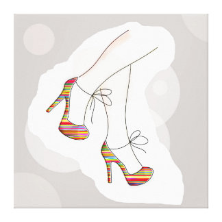 Colorful fashion shoes canvas print