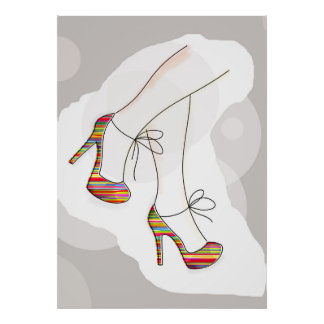 Colorful fashion shoes poster