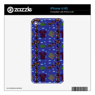 Colorful Fathers Items iPhone 4S Skin