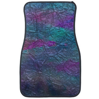 Colorful Faux Foil Design Front Car Mats