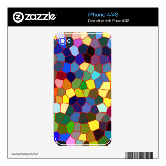 Colorful Faux Stained Glass Look 2 Decals For The iPhone 4