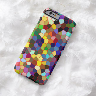 Colorful Faux Stained Glass Look Barely There iPhone 6 Case