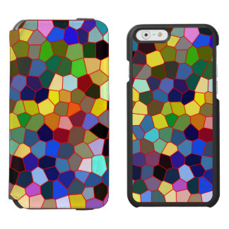 Colorful Faux Stained Glass Look iPhone 6/6s Wallet Case