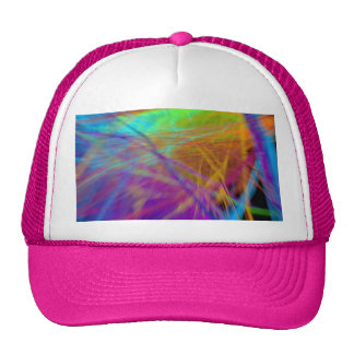 Colorful Feather Cap Trucker Hat