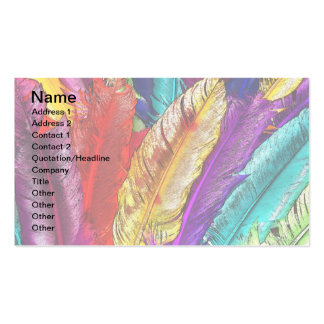 COLORFUL FEATHERS Business Cards