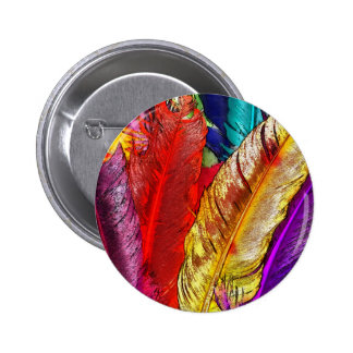 COLORFUL FEATHERS Button