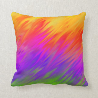 Colorful Feathers Lumbar and Throw Pillow