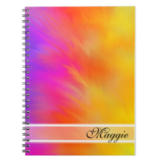 Colorful Feathers Monogram Notebook
