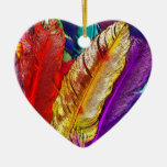 COLORFUL FEATHERS Ornament