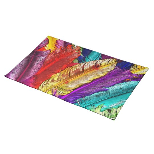 COLORFUL FEATHERS Placemat