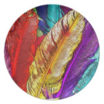 COLORFUL FEATHERS Plate