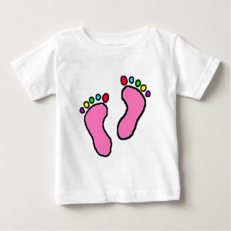 Colorful Feet Cartoon Baby T-Shirt