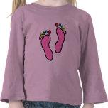 Colorful Feet Cartoon Tee Shirts
