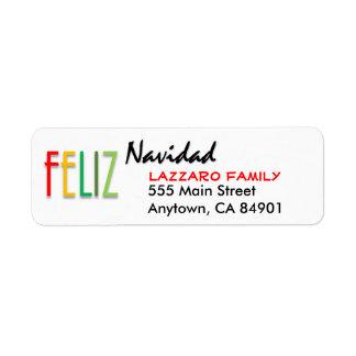 Colorful Feliz Navidad Holiday Address Labels