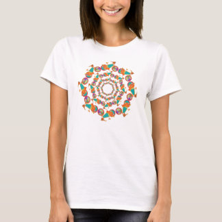 colorful feminine bicycles mandala T-Shirt