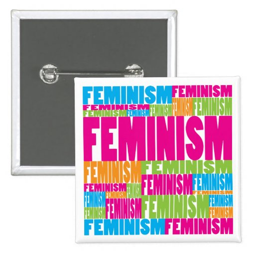 Colorful Feminism Button