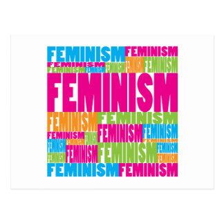 Colorful Feminism Postcard