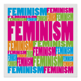 Colorful Feminism Poster