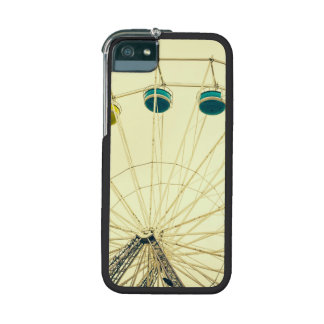 Colorful Ferris Wheel, Green Photograph iPhone 5/5S Case