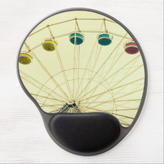 Colorful Ferris Wheel, Green Photograph Gel Mouse Pads