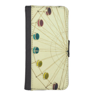 Colorful Ferris Wheel, Green Photograph Phone Wallets