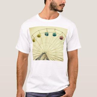 Colorful Ferris Wheel, Green Photograph T-Shirt