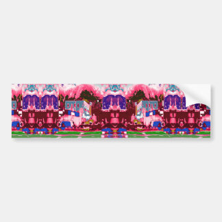 Colorful  Festival Birthday Return+Gifts Giveaway Car Bumper Sticker