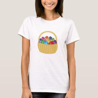 Colorful Festive Easter Eggs Basket T-Shirt