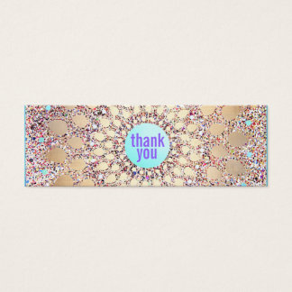 Colorful Festive Glitter Purple Thank You Insert
